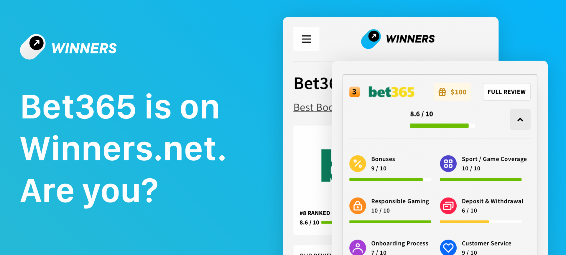 Winners.net and Bet365 Join hands for an exclusive partnership Deal