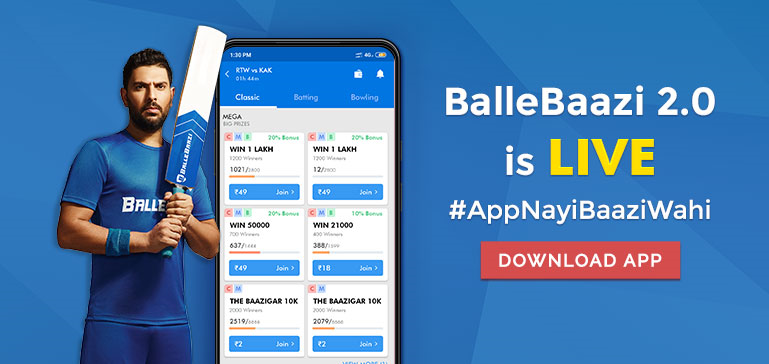 Balle Baazi - a one-stop solution for the fantasy sports' fans!