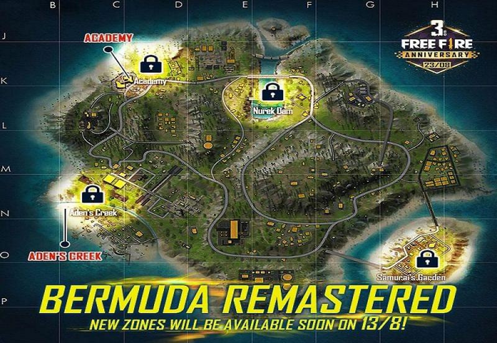 Free Fire unveils the official release date of Bermuda Map's revamped version